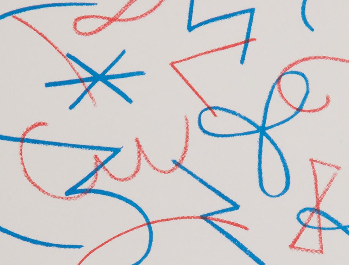 Jazz Movement Study Risograph Print