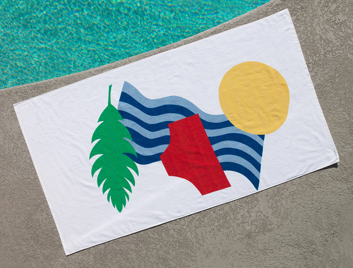 Tan Lines Beach Towel for Unison Home